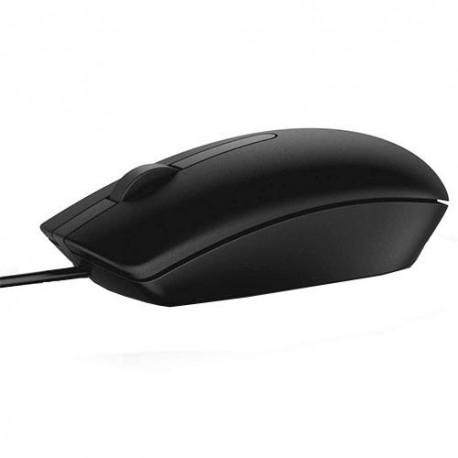 DELL MS116 USB Optyczny 1000DPI Oburęczny Czarny myszka