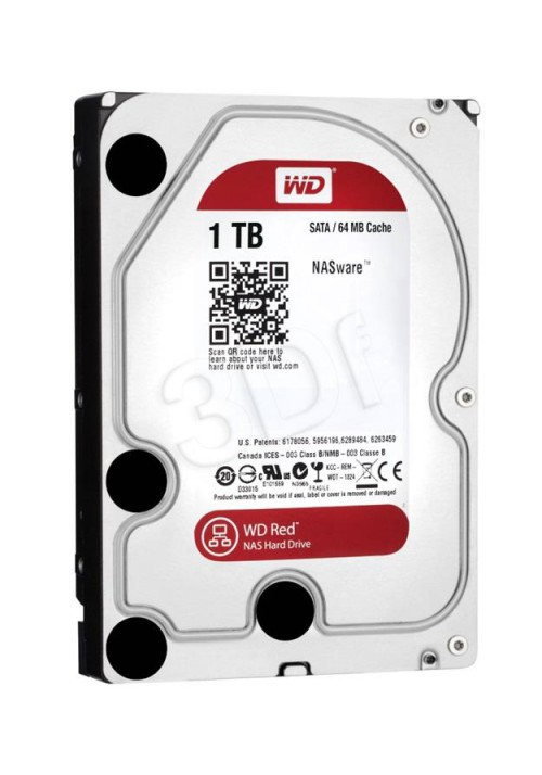 Dysk WD WD10EFRX 1TB WD Red 64MB SATA III - NAS